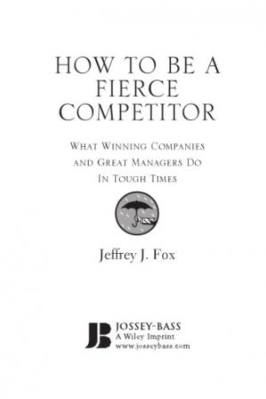 বইয়ের কভার HOW TO BE A Fierce Competitor