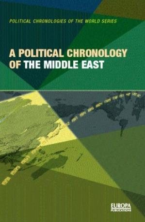 पुस्तक कवर Chronology of the Middle East