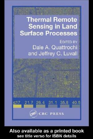 A capa do livro Thermal Remote Sensing in Land Surface Processes