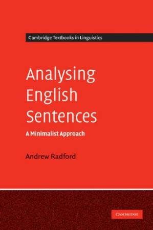 Book cover Analysing English sentences: a minimalist approach