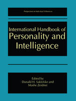 Book cover International Handbook of Personality and Intelligence