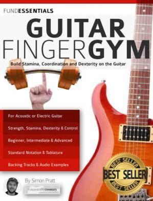 Kitabın üzlüyü The Guitar Finger-Gym: Build Stamina, Coordination, Dexterity and Speed on the Guitar