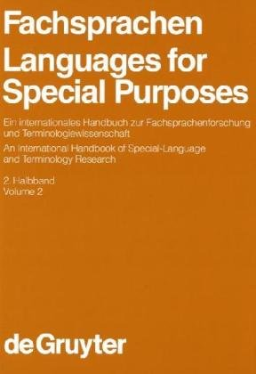 Okładka książki Fachsprachen Languages for Special Purposes: Ein Internationales Handbuch zur Fachsprachenforschung und Terminologiewissenchaft An International Handbook of Special-Language and Terminology Research, Band 2 Vol. 2 (Handbücher zur Sprach- und Kommunikatio