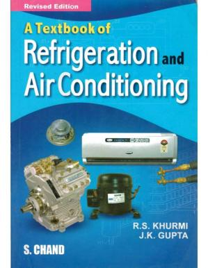 Book cover A Textbook of Refrigeration and Air Conditioning