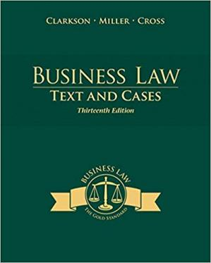 Copertina Business Law: Text and Cases