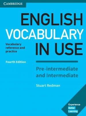 Book cover English Vocabulary in Use Pre-Intermediate and Intermediate Book with Answers Vocabulary Reference and Practice by Stuart Redman (z-lib.org)