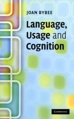 Book cover Language, Usage and Cognition