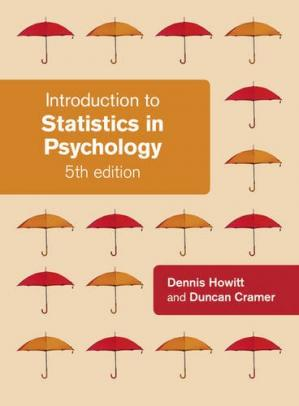Book cover Introduction to Statistics in Psychology, 5th Edition