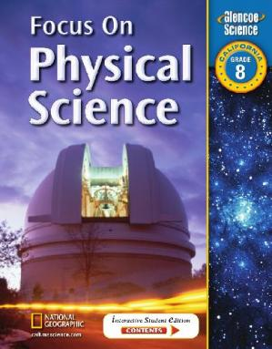 Book cover Focus on Physical Science: Grade 8, California