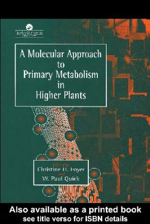 Обложка книги A Molecular Approach to Primary Metabolism in Higher Plants