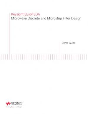 Portada del libro Microwave Discrete and Microstrip Filter Design in ADS