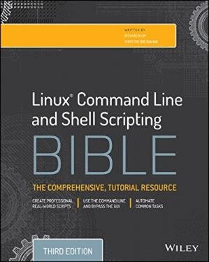 Portada del libro Linux Command Line and Shell Scripting Bible