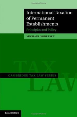 Copertina International Taxation of Permanent Establishments: Principles and Policy