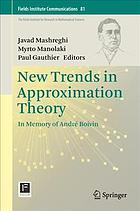 Book cover NEW TRENDS IN APPROXIMATION THEORY: in memory of andre boivin