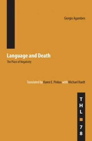 Buchdeckel Language and Death: The Place of Negativity