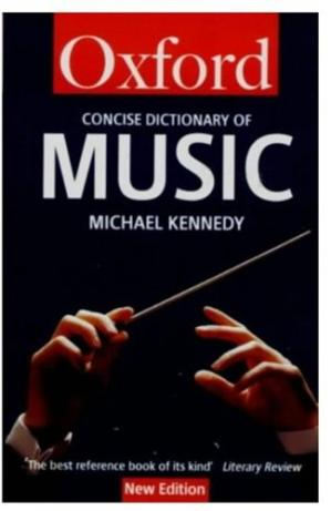 Book cover The Concise Oxford Dictionary of Music (Oxford Paperback Reference)