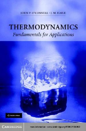 Book cover Thermodynamics Fundamentals for Applications