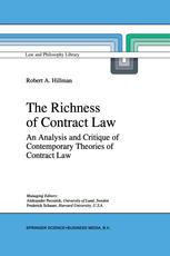 Book cover The Richness of Contract Law: An Analysis and Critique of Contemporary Theories of Contract Law