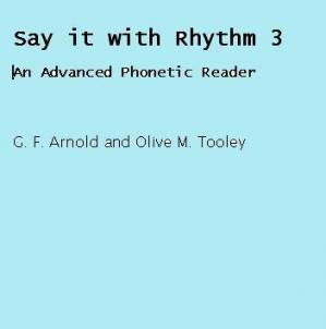 Book cover Say it with Rhythm: Bk. 3