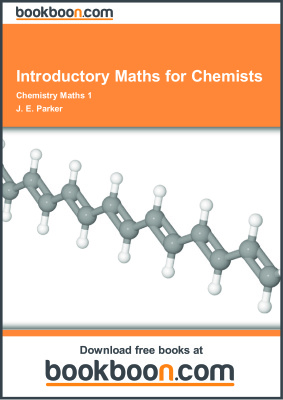 Book cover Introductory Maths for Chemists. Chemistry Maths 1