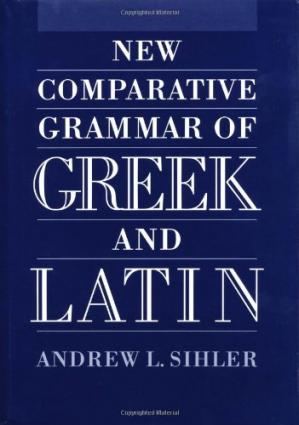 Couverture du livre New Comparative Grammar of Greek and Latin