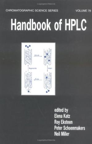 A capa do livro Handbook of HPLC
