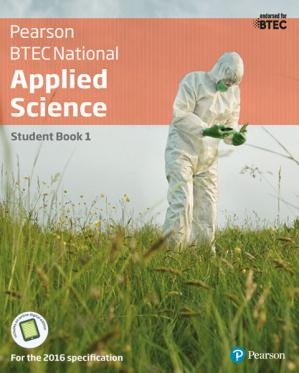 Book cover BTEC National Applied Science Student Book 1: (BTEC Nationals Applied Science 2016)