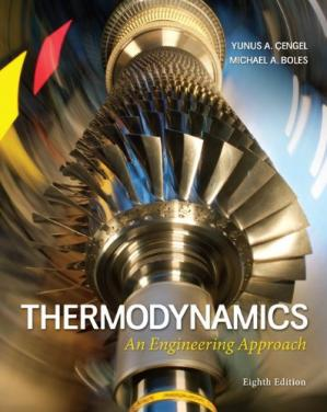 Couverture du livre Thermodynamics: An Engineering Approach 8th Edition