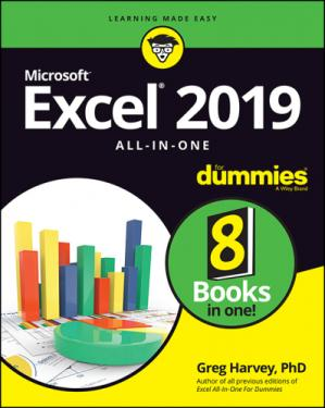 Portada del libro Excel 2019 All-in-One For Dummies