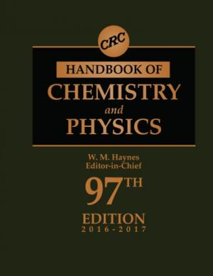 Book cover CRC handbook of chemistry and physics: a ready-reference book of chemical and physical data