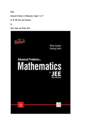 Book cover Advanced Problems in Mathematics for JEE (Main & Advanced) (chapter 1–9)
