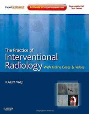 A capa do livro The Practice of Interventional Radiology
