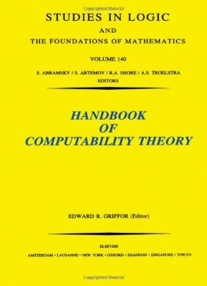 A capa do livro Handbook of Computability Theory