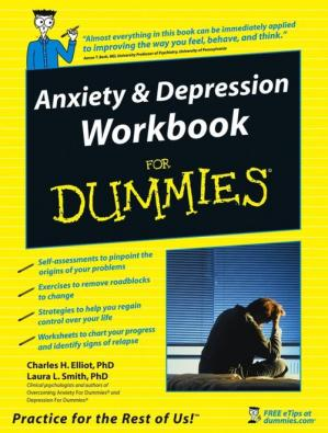 Book cover Anxiety & Depression Workbook for Dummies