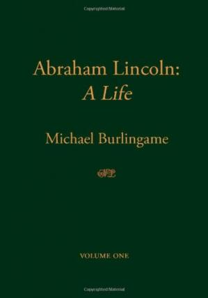 Book cover Abraham Lincoln: A Life, Volume 1