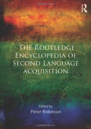 Обкладинка книги The Routledge encyclopedia of second language acquisition