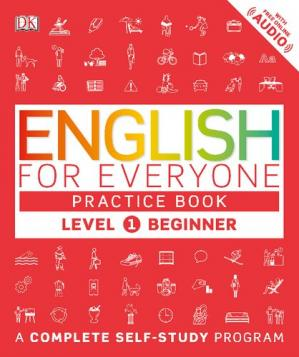 Book cover English for Everyone - Level 1 Beginner - Practice Book