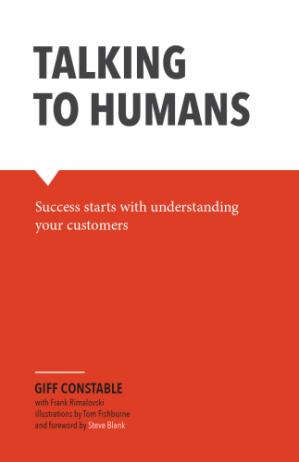 A capa do livro Talking to Humans: Success starts with understanding your customers