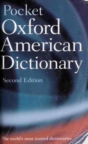 Book cover Pocket Oxford American Dictionary