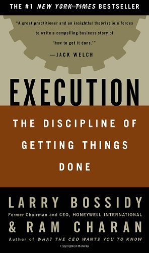 Book cover Execution: The Discipline of Getting Things Done