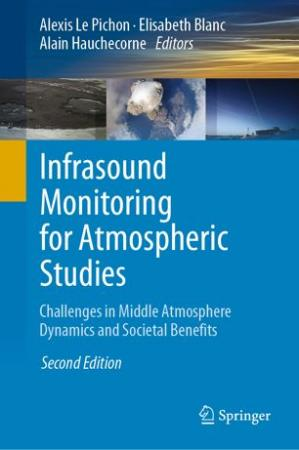 Portada del libro Infrasound Monitoring for Atmospheric Studies: Challenges in Middle Atmosphere Dynamics and Societal Benefits