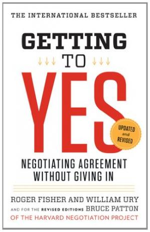 पुस्तक कवर Getting to Yes: Negotiating Agreement Without Giving In