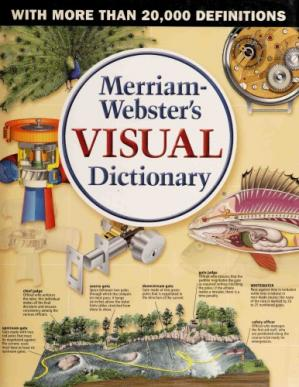 Kitabın üzlüyü Merriam-Webster's Visual Dictionary