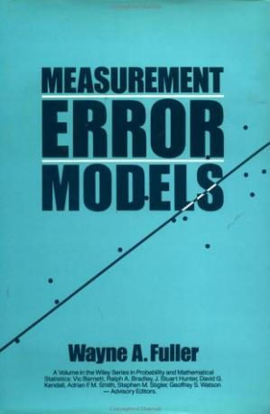 Couverture du livre Measurement error models