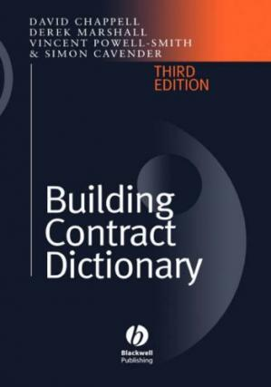 ปกหนังสือ Building Contract Dictionary