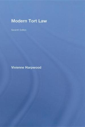 Book cover Modern Tort Law (Seventh edition)