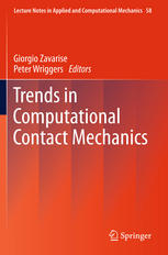 Book cover Trends in Computational Contact Mechanics