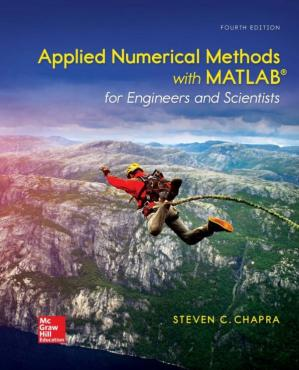 A capa do livro Applied Numerical Methods with MATLAB for Engineers and Scientists