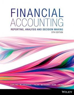 Couverture du livre Financial Accounting: Reporting, Analysis and Decision Making 5E
