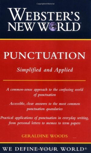Portada del libro Webster's New World Punctuation: Simplifed and Applied (Webster's New World)